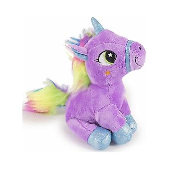 Unicorn zitten pluche knuffel