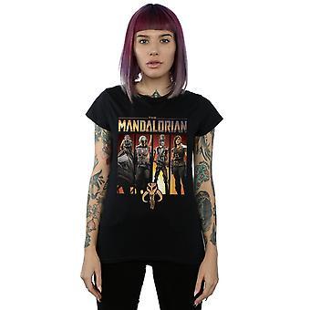 Star Wars kvinner ' s den Mandalorian karakter lineup T-skjorte