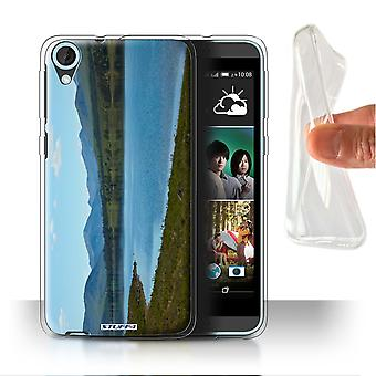 STUFF4 Gel/TPU Case/Cover for HTC Desire 820s Dual/Loch/Valley/Scottish Landscape