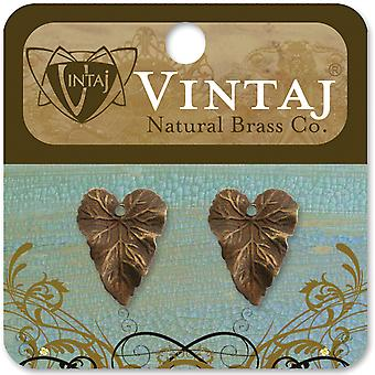 Vintaj Metall Anhänger 2 Pkg Woodland Leaf 18X14mm Dp275r