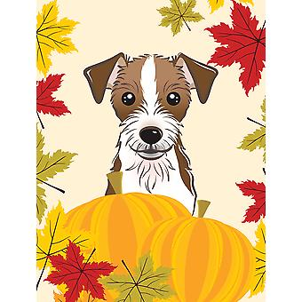 Jack Russell Terrier Thanksgiving Flag Canvas House Size BB2008CHF