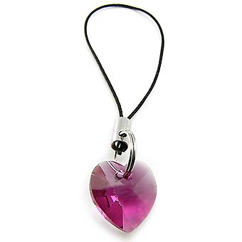 Heart Fuchsia mobile phone charm CMB1.1