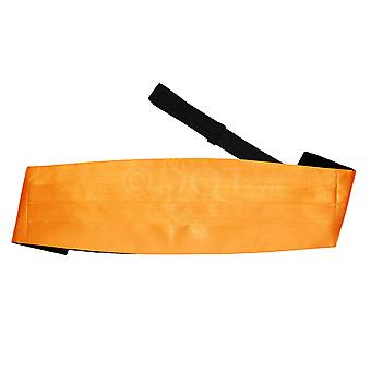 Fluoreszierend Orange Plain Satin Kummerbund