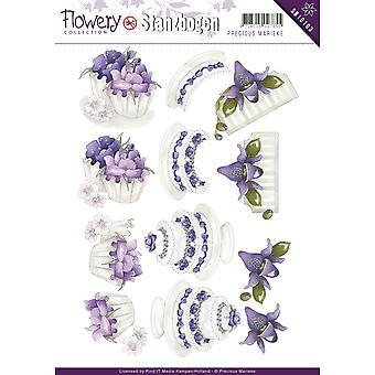Find It Trading Precious Marieke Punchout Sheet-Flowery SB10103