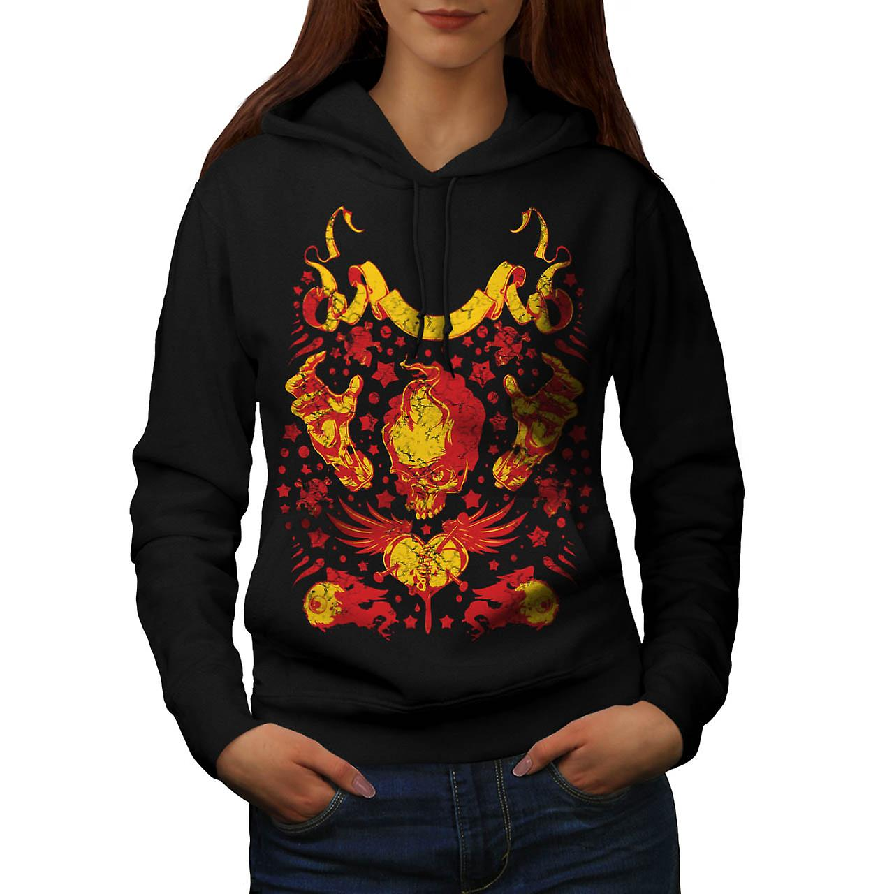 Devil Lair Raise Hell Fire Demon Women Black Hoodie | Wellcoda