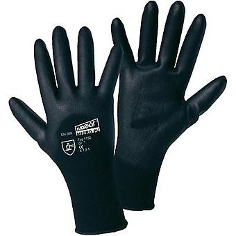 MICRO black polyamide PU-partial coated fine-knitted gloves worky