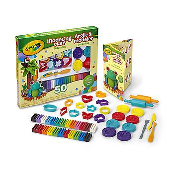 Crayola Modeling Clay 50 Piece Deluxe Tool Kit with Clay, Cutters, Molds & Tools