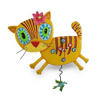 Allen ontwerpt 'Kimi Kitty' slinger Wandklok