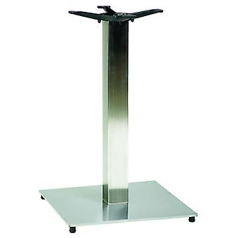 Pluto Square Dining Stainless Steel Table Base