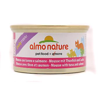 Almo Nature Daily Menu Cat Mousse With Tuna And Salmon 85g (Pack of 24)
