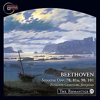 Beethoven / Crawford - sønner 78 81a 90 & 101 [CD] USA import