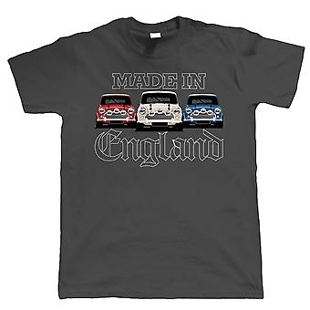 Made in England, Mens Patriotic Car T-Shirt