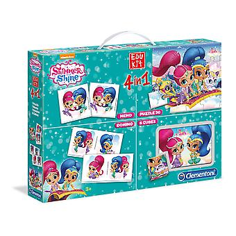 Clementoni Shimmer And Shine Kit 4 Juegos En 1 (Toys , Boardgames , Family Games)
