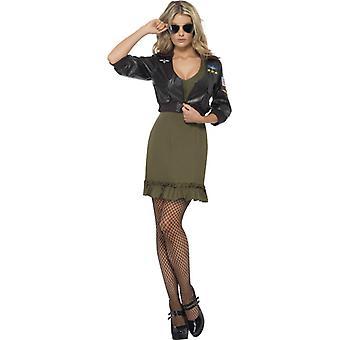 Top gun costume ladies original license Topgun jacket and skirt