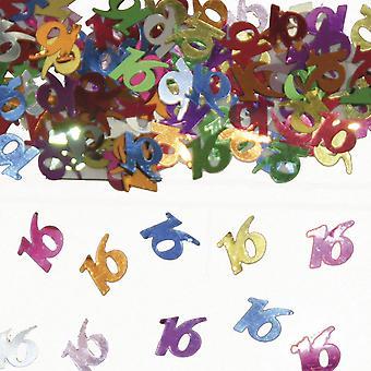 Table confetti number 16 Deco confetti birthday party