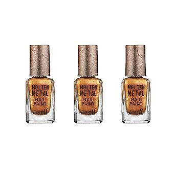 Barry M X 3 Barry M smeltet metall - Gold Rush