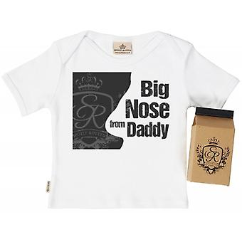 Spoilt Rotten Big Nose From Daddy Babys T-Shirt 100% Organic In Milk Carton