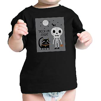 Costume d'Halloween chat noir squelette infantile Graphic T-shirt bébé