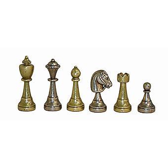 Staunton Metall Männer Männer Schachspiel