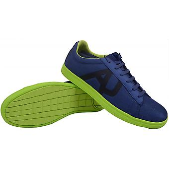 Armani Jeans A6518 Blue Low Textile Trainer