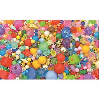 SALE -  450g Assorted Beads for Kids Crafts   Childrens Craft Beads