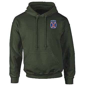 Amerikanska armén 10th Mountain Division broderad Logo - Hoodie
