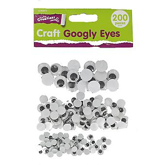 Children's 200 Assorted Sizes Googly Eyes Arts & Craft Accessories