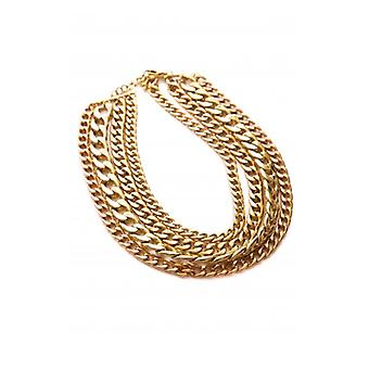 Fashion Bible Cannes Multi lager guld halsband