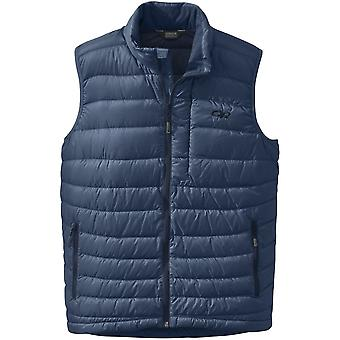 Outdoor Research Mens Transcendent Down Vest Dusk/Night (Small)