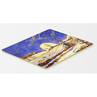 Winter Moonrise by Roy Avis Kitchen or Bath Mat 20x30