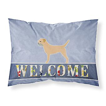 Border Terrier Welcome Fabric Standard Pillowcase