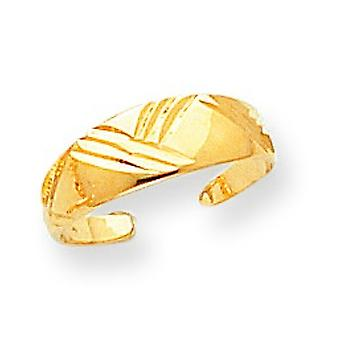14k geelgoud Fancy gepolijst teen Ring - 1.2 gram