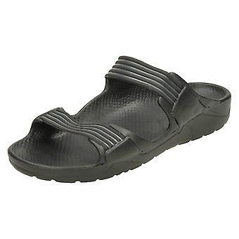 Mens Spot On Twin Strap Mule Sandal