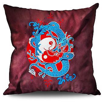 Mystic Fantasy Yin Yang Linen Cushion Mystic Fantasy Yin Yang | Wellcoda