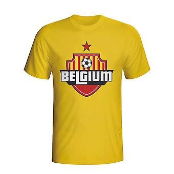 Koszulka z Logo kraj Belgia (żółty) - dla dzieci