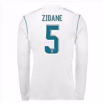 2017-18 Реал Мадрид длинный рукав дома рубашку (Зидан 5)