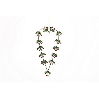 CGB Giftware Christmas Holly Heart Hanging Decoration