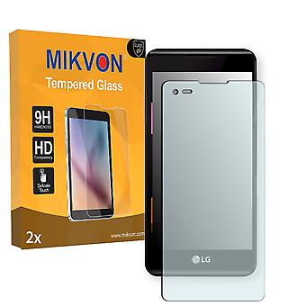 LG X style Screen Protector - Mikvon flexible Tempered Glass 9H (Retail Package with accessories)