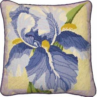Single Iris Needlepoint Canvas
