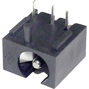 Low power connector Socket, horizontal mount 2 mm
