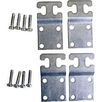 Fibox 8280002 MF CAB Wall Mounting Plate/metal MF CAB (4 Pcs) Metal Grey (RAL 7035) Compatible with (details) CAB P 302