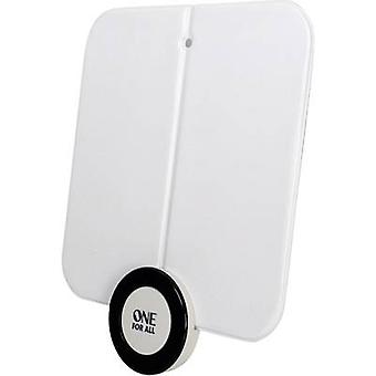 One For All SV 9215 DVB-T/T2 active planar antenna Indoors Amplification=41 dB White