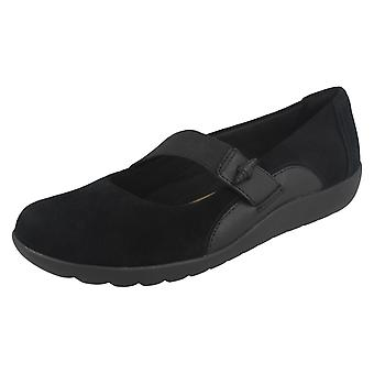 Clarks Ladies Elasticated Strap Shoes Medora Frost