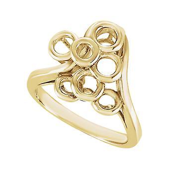 14 k Gelb Gold Metall Mode - 4,9 Gramm - Ringgröße 6