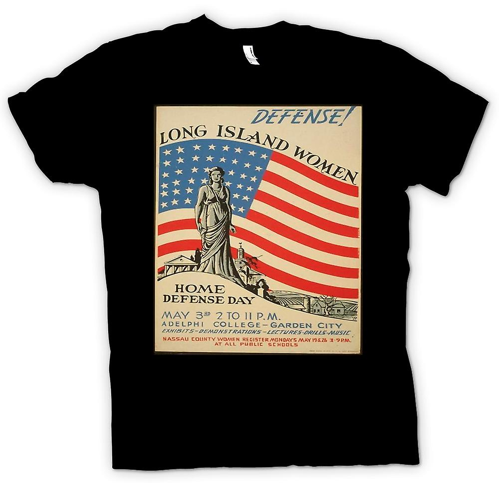 Mens T-shirt-Long Island Women - Vintage - guerre