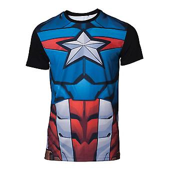 Captain america Cosplay T-Shirt multicolour X-Large (TS070426MVL-XL)