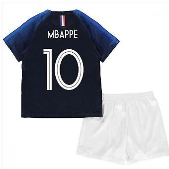 2018-2019 France Home Nike Mini Kit (Mbappe 10)
