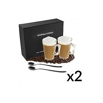 Andrew James Modern Latte Glass Set (Multipacks)
