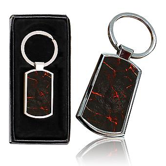 i-Tronixs - Premium Marble Design Chrome Metal Keyring with Free Gift Box (3-Pack) - 0058