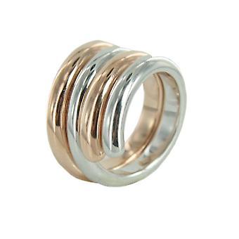 ESPRIT swiveled ladies silver ring bicolor ESSE90969B